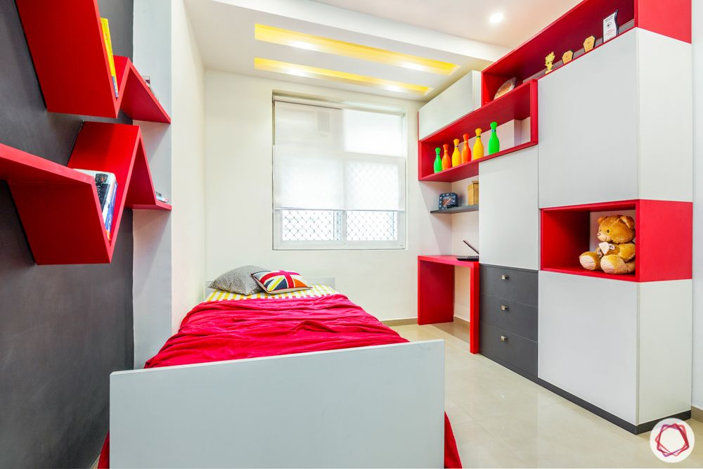 mahagun mywoods-livspace noida-kids bedroom-storage unit