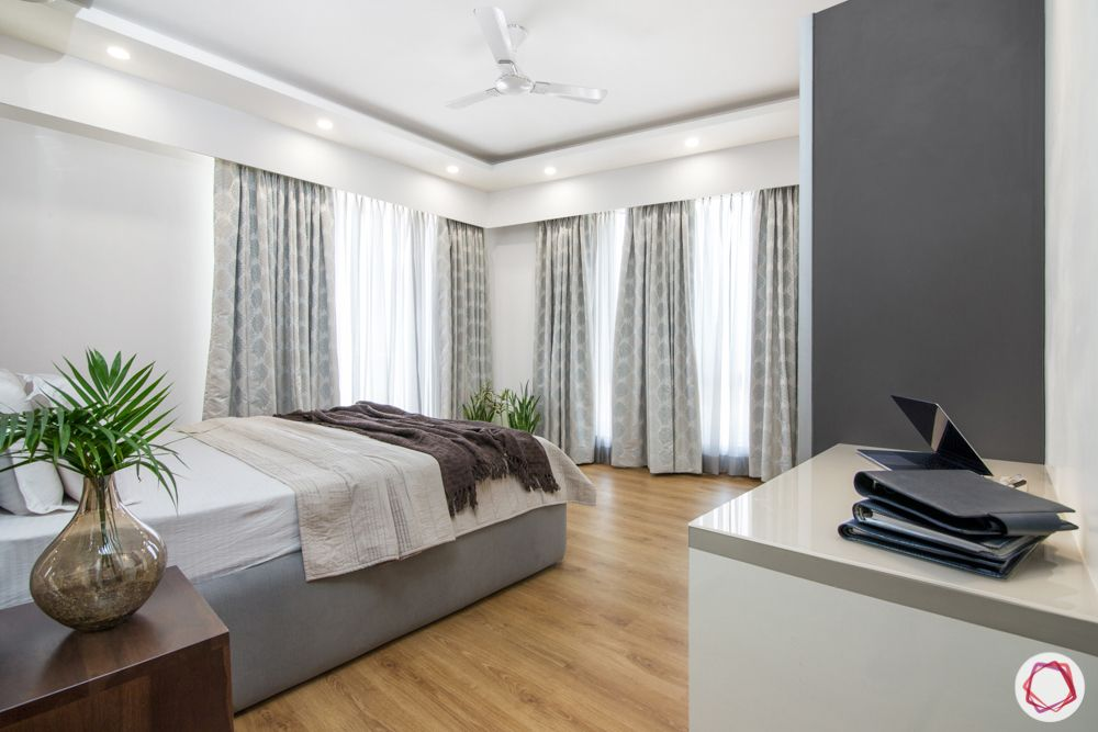 pioneer presidia-plants-grey and white curtains Caption: