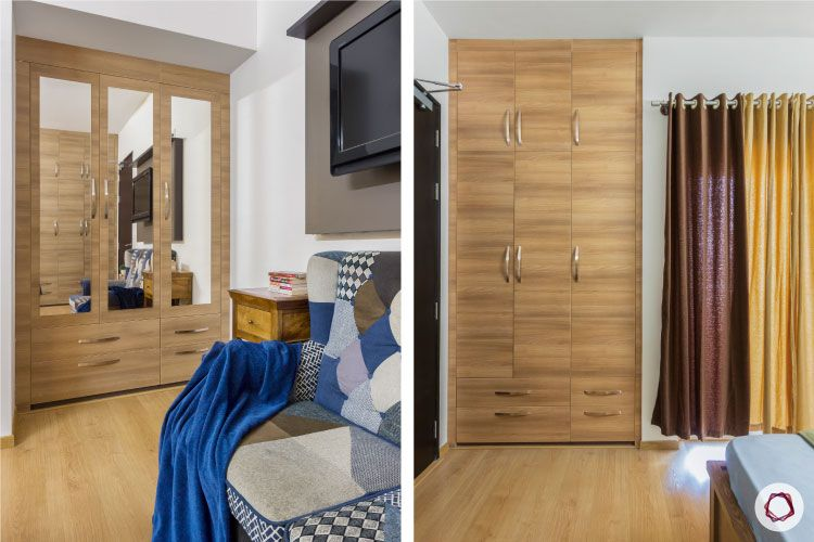 brown wardrobe design-wardrobes cast into niches