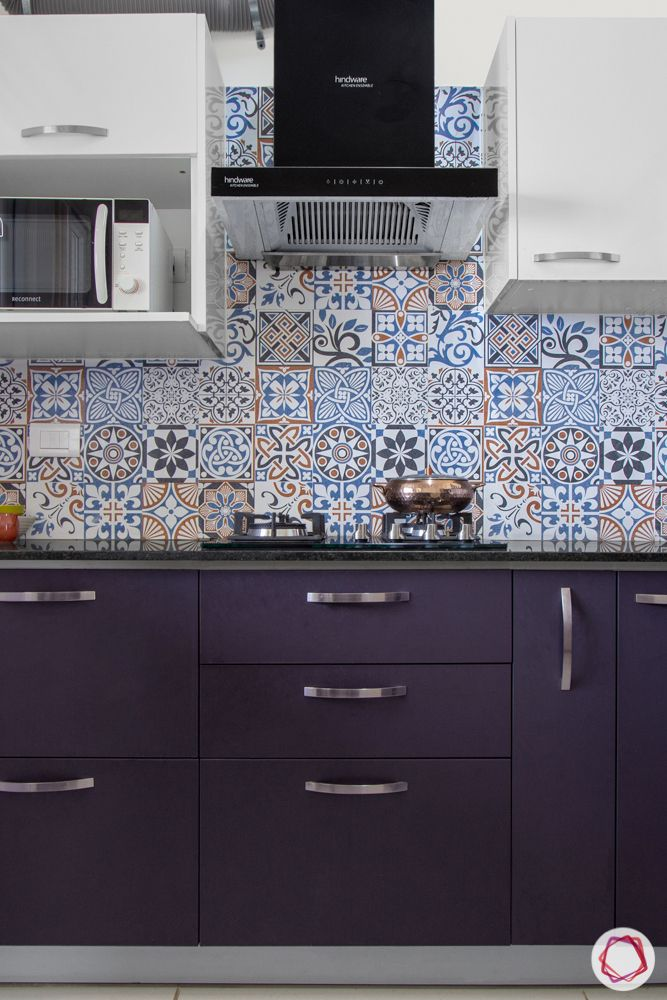 interior design bangalore-3-bhk-in-bangalore-hob unit-blue base cabinet-white wall cabinets