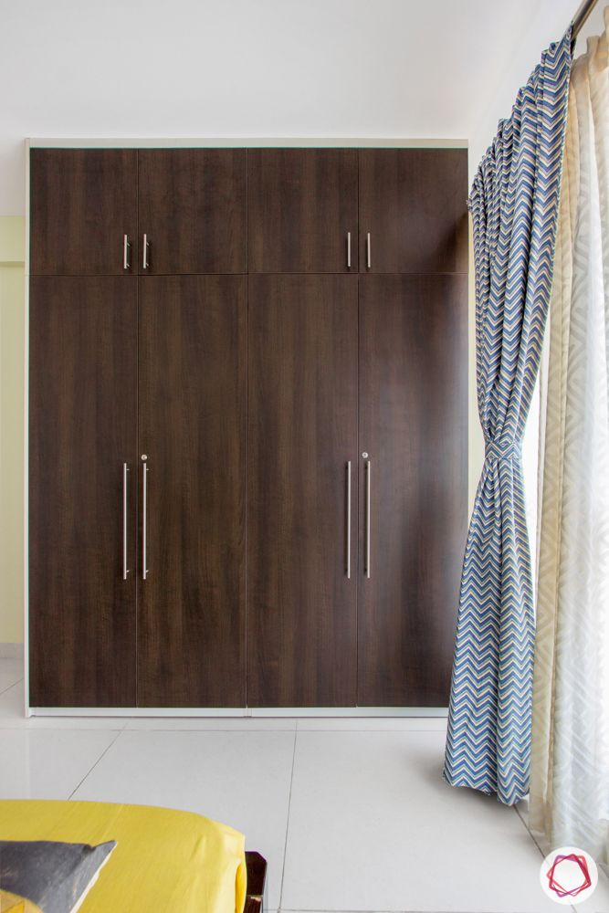 interior design bangalore-3-bhk-in-bangalore-guest bedroom-laminate wardrobe