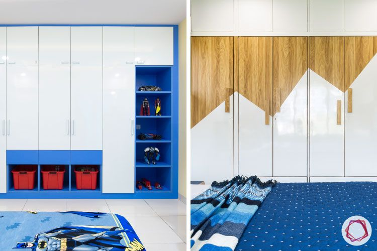 cabinet ideas-collage-blue and white -wooden shutter design