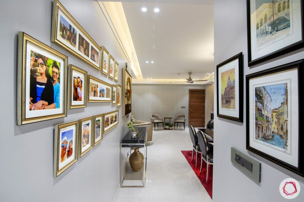 dlf park place-photo wall-passageway-console table