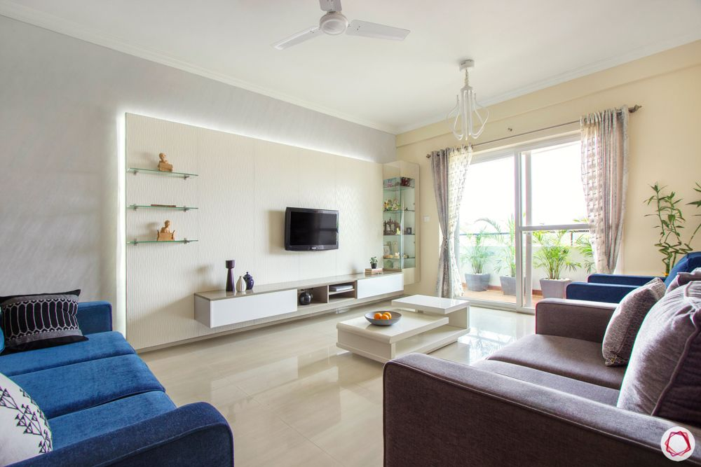 bangalore home-white TV panel designs-backlit tv panel designs