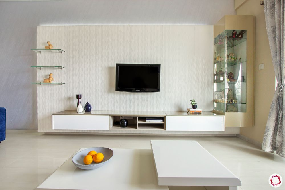 white TV panel designs-backlit tv panel designs