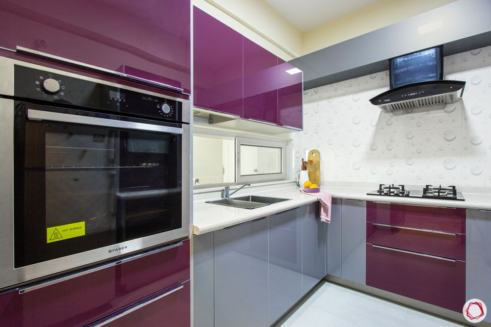 grey kitchen designs-purple kitchen cabinets