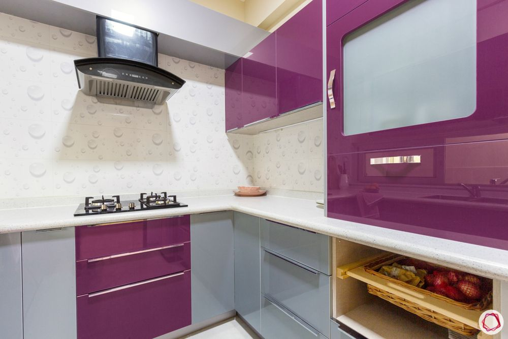 tall unit designs-purple kitchen cabinets