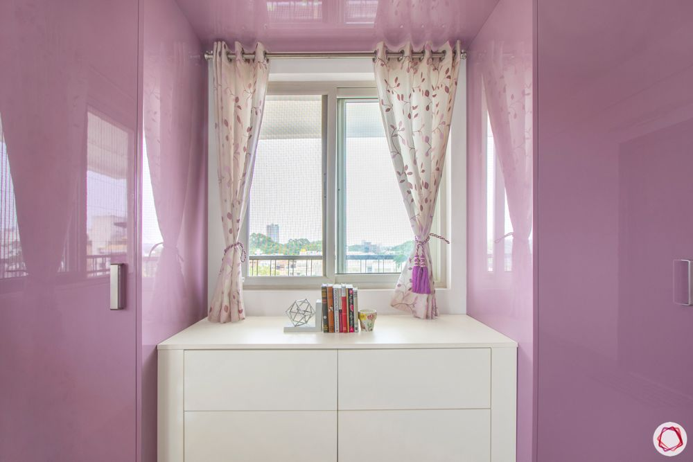 pink bedroom designs-white chest of drawers