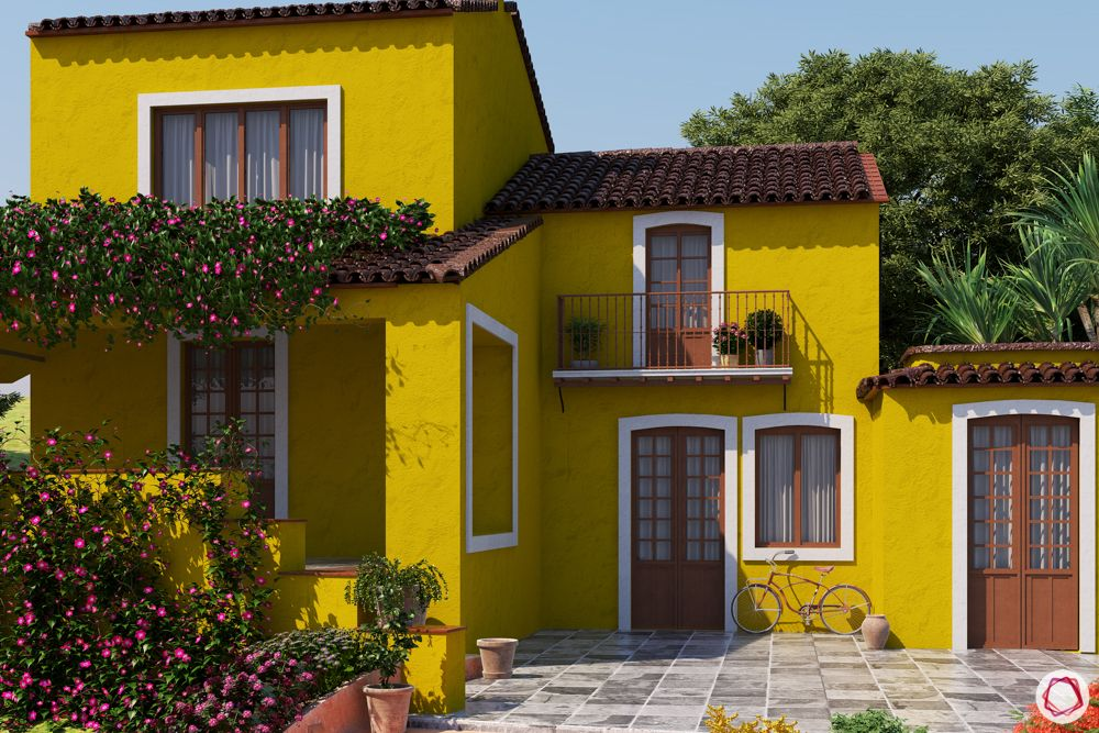 cost of painting a house per square foot india-yellow exterior paint