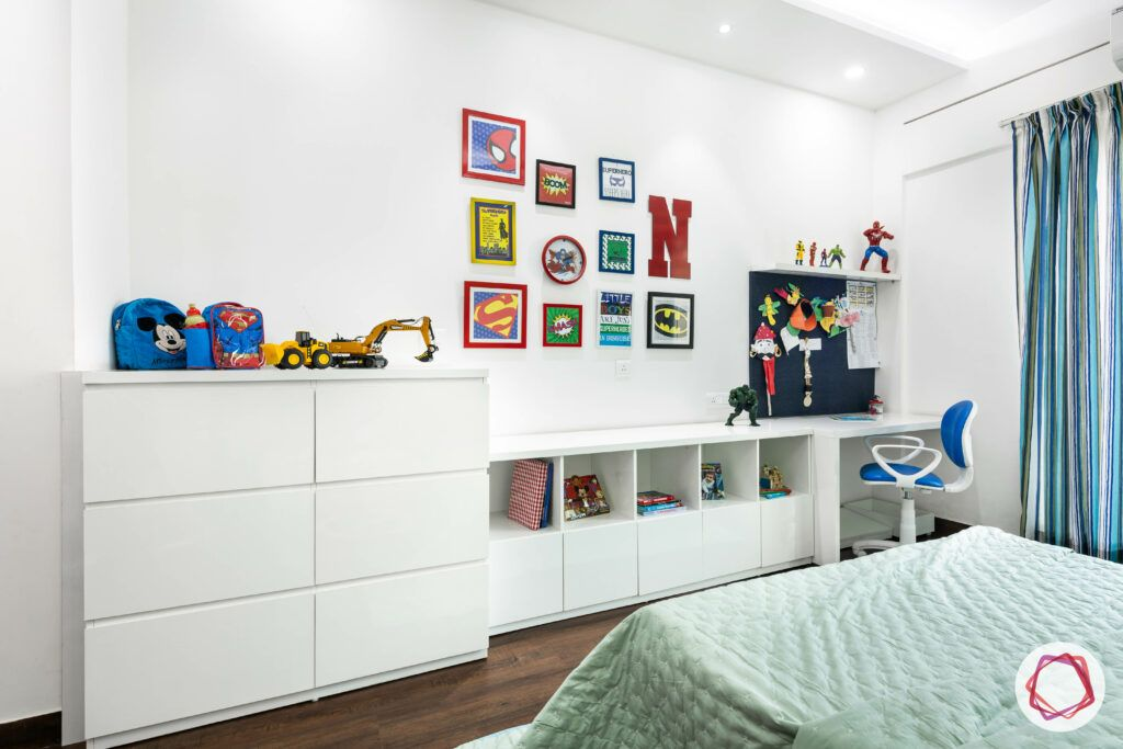 kids room design-super hero kids room