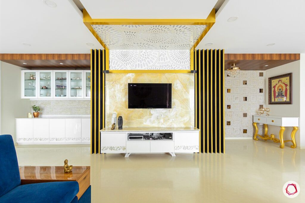 ceiling design for hall-jaali unit
