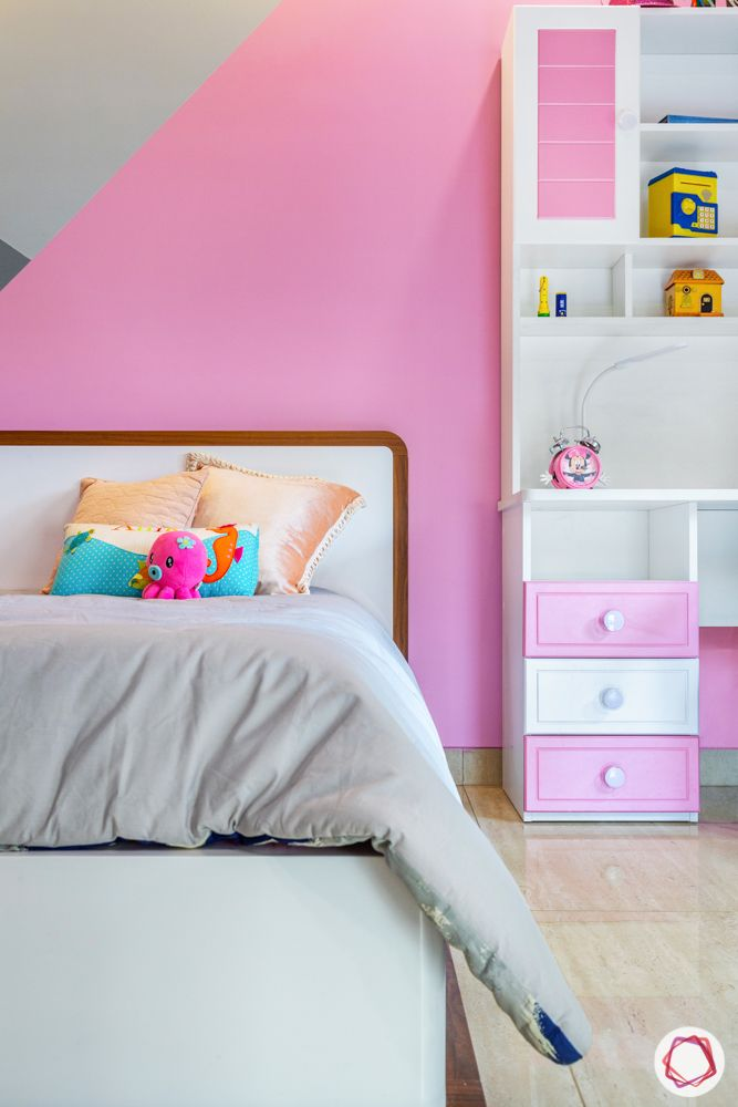 ardee city-daughter's room-grey bed-white headboard