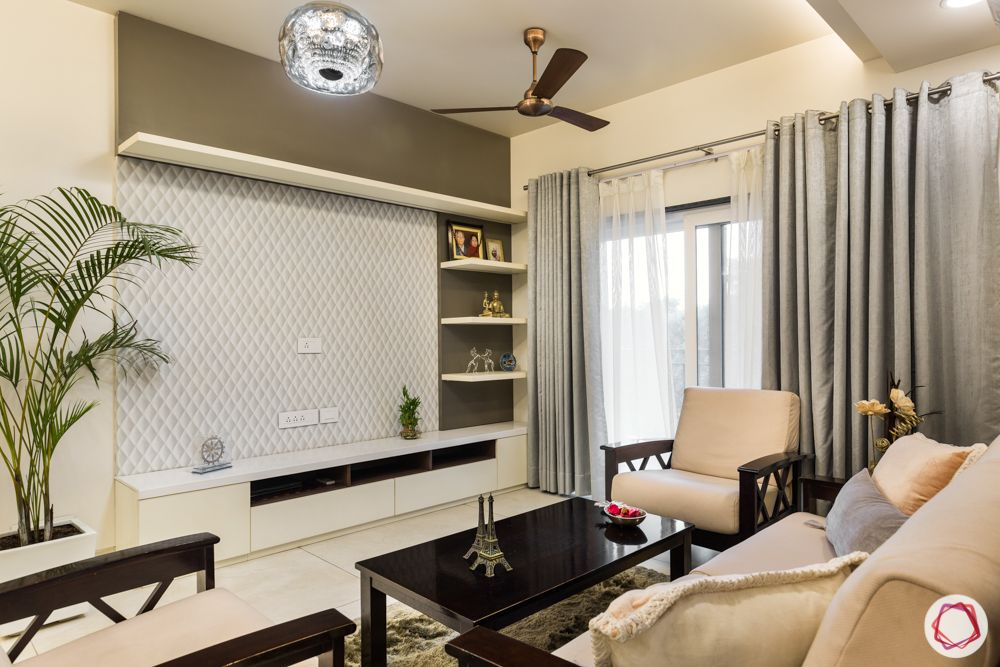 interior 3bhk for flat-tv unit-partition-neutral sofa