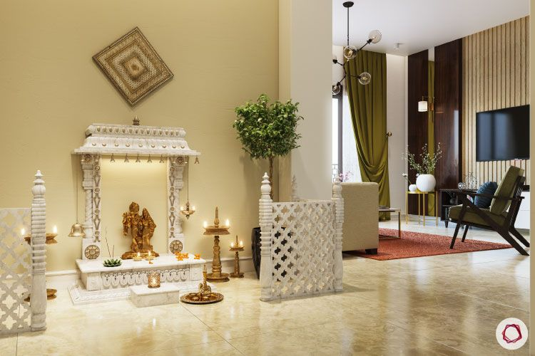 pooja partition-white partition designs