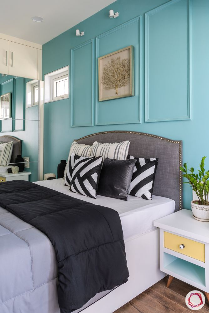 POP-design-for-room-wall-trims-blue-wall