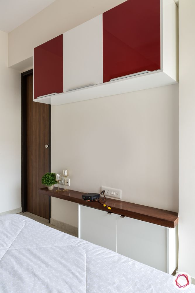 red and white wall cabinets-white bar unit designs