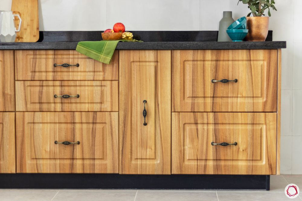 standard kitchen dimensions-lower cabinets-wooden finish cabinets