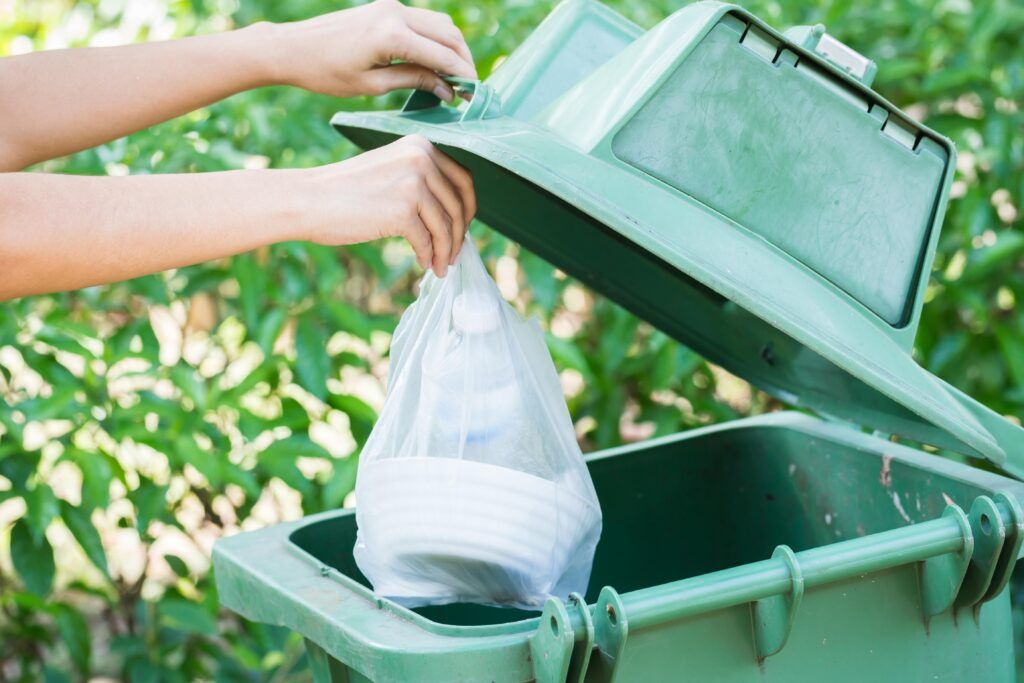 house cleaning tips-dispose garbage from home