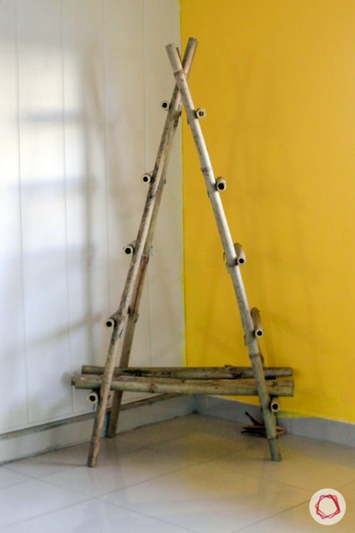 christmas tree making-yellow wall ideas-tree structure