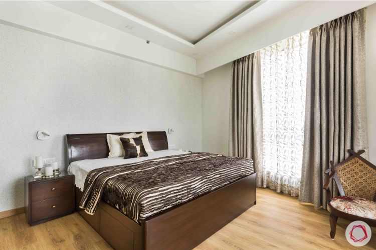 livspace gurgaon-solid wood bed designs-wooden flooring designs