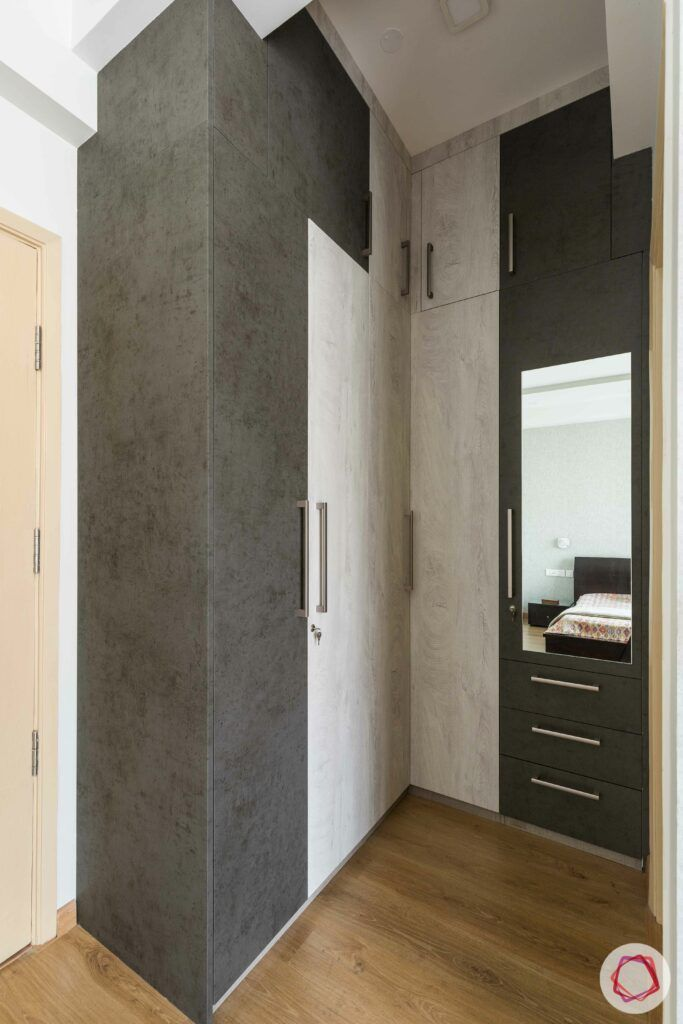 walk-in closet designs-membrane finish wardrobe