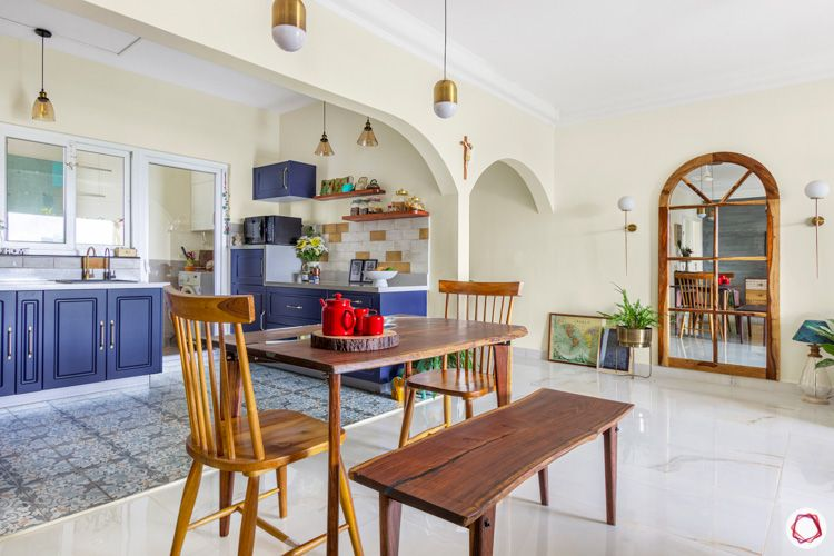 Shriram Chirping Woods-kitchen-dining-room-open-table-bench