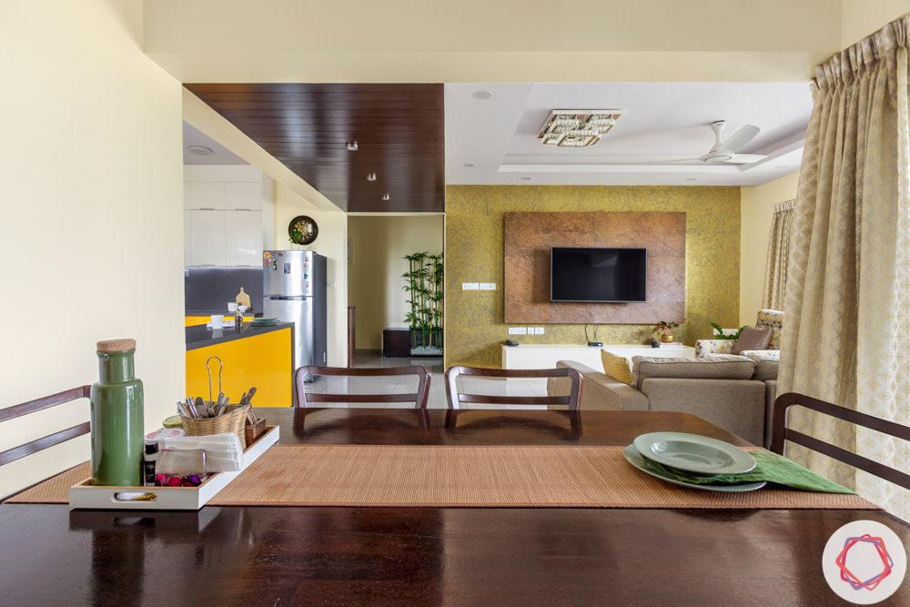 Alembic Urban Forest-foyer-living-room-false-ceiling-wooden-bamboo
