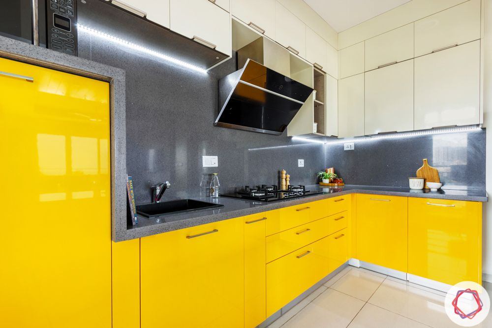 Alembic Urban Forest-kitchen-yellow-grey-cabinets-profile-lighting
