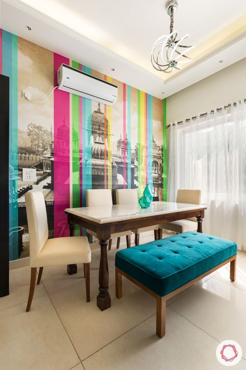 ace-golfshire-dining-colourful-wallpaper-bench