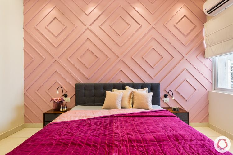 bedroom-pink-wall-wooden-trims-painted