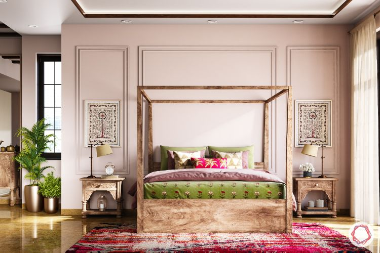 how to decorate with antiques in a modern style-four poster bed designs