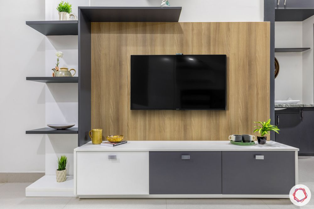 TV unit designs-grey laminate