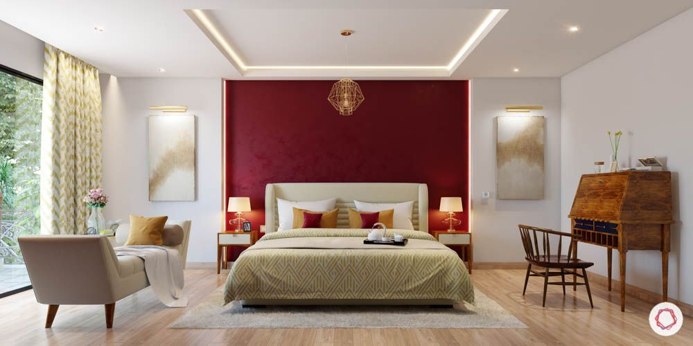 fall-ceiling-red-wall-false-ceiling