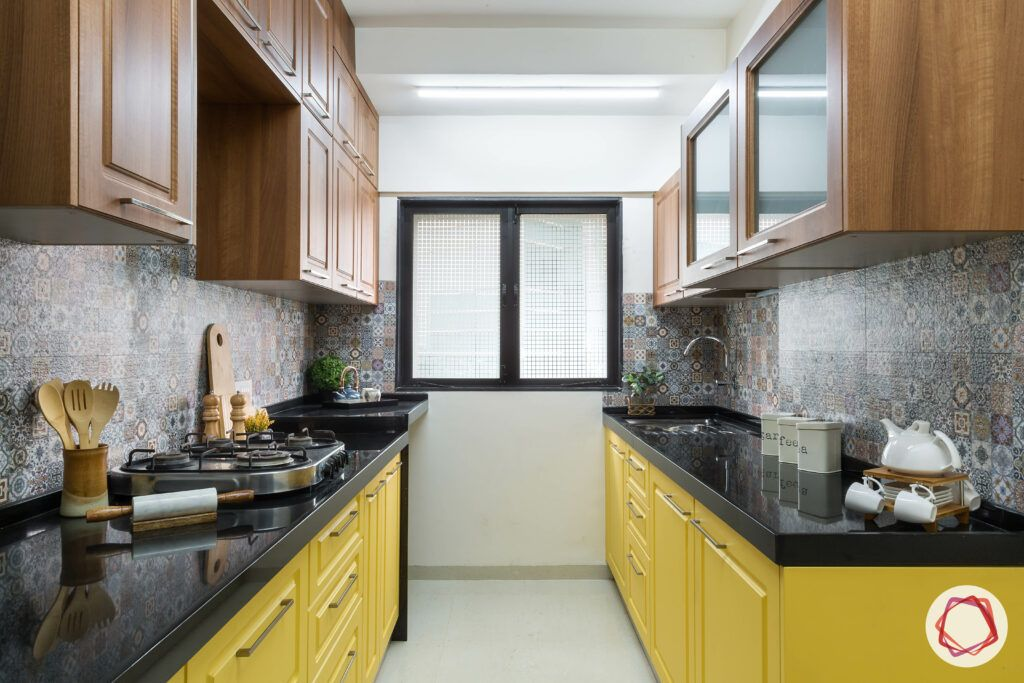 yellow kitchen-moroccan tiles backsplash