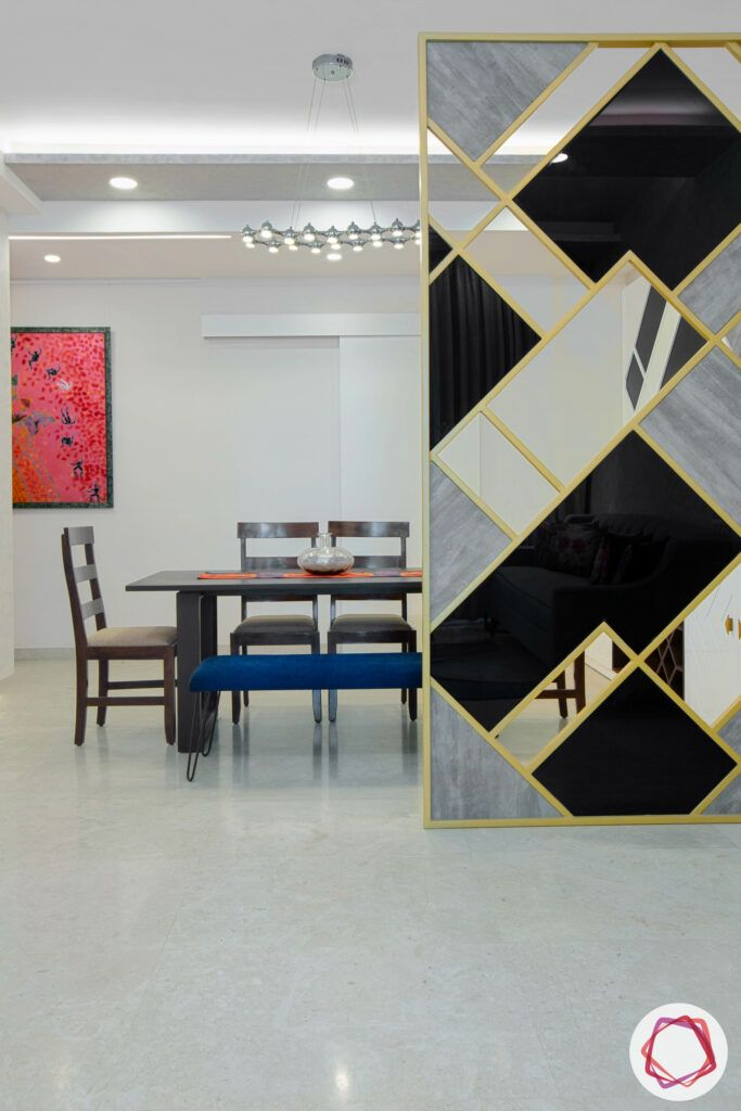 living room dividers-glass partition designs-lacquered glass partition