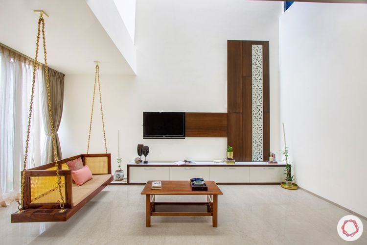 interior companies in bangalore-jhoola-tv unit-grey sofa-window designs