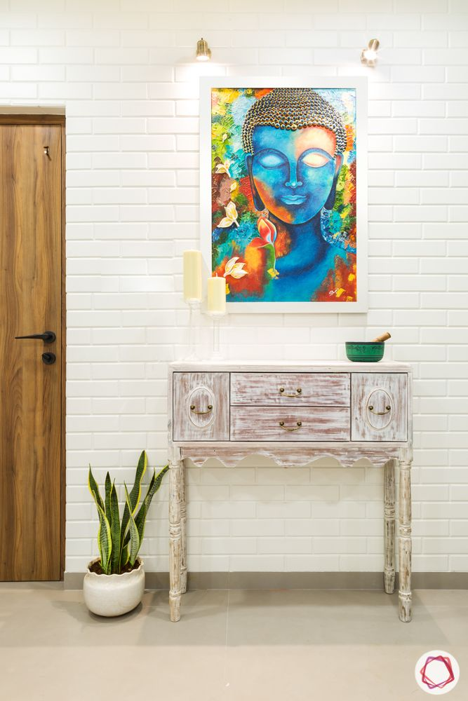 Entrance wall design-wall art-console table