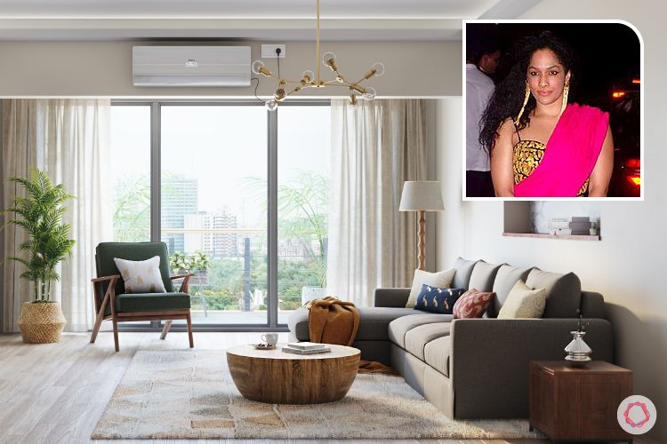 bollywood stars houses-masaba gupta home-l shaped sofa designs