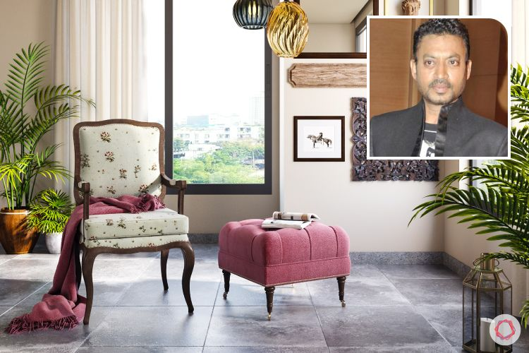 celebrity homes-irrfan khan home-armchair designs