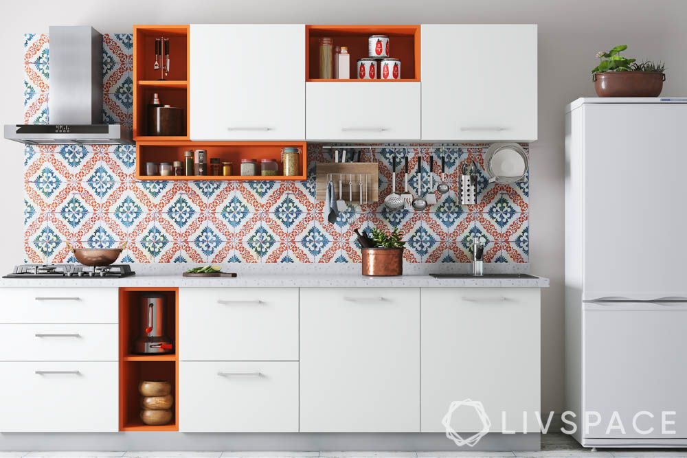 cleaning tips for lazy people-organised cabinets-orange kitchen