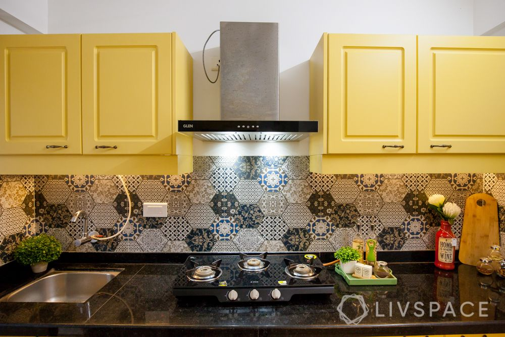 modular kitchen cleaning-sink-hob