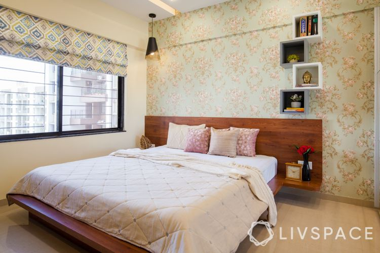 wooden-bed-headboard-bedside-tables-attached-bed