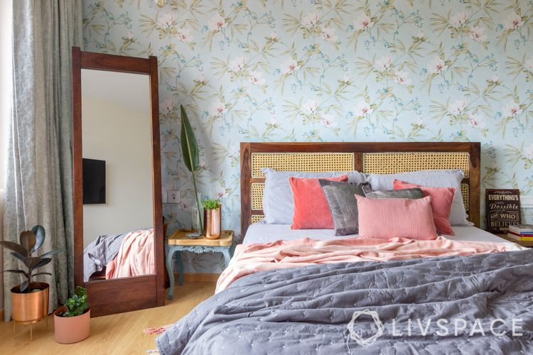 wooden-bed-headboard-attached-mesh-panels