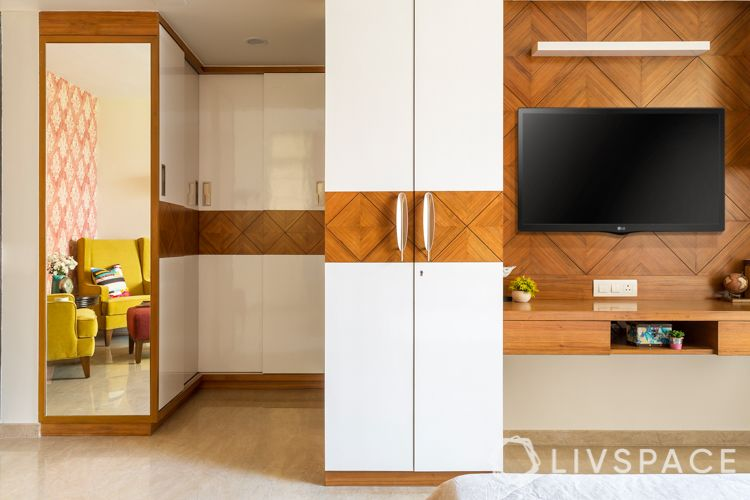 how to decorate home in low budget-wardrobes-knobs-tv unit
