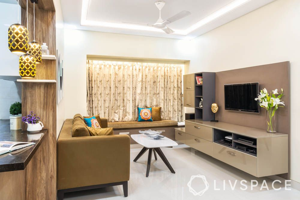Contemporary living room-tv unit-sofa-coffee table-bay seating