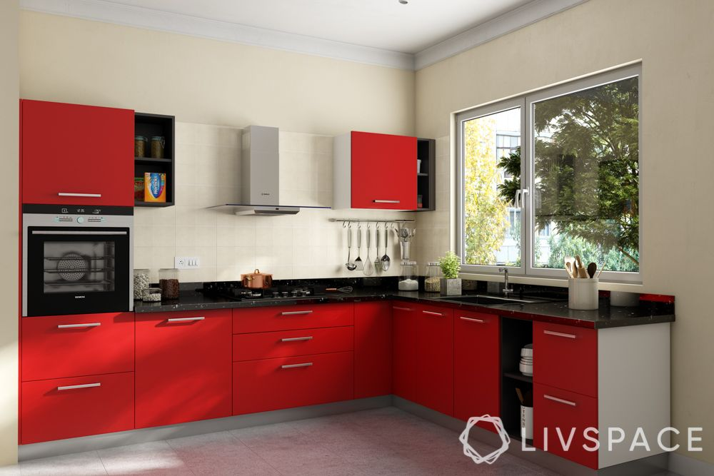 small indian kitchen design in l shape-reduce visual bulk