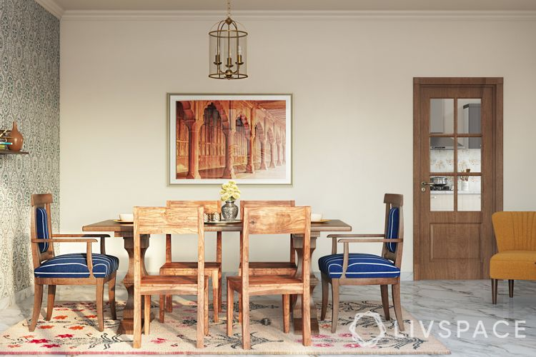blue chairs-wooden dining chairs