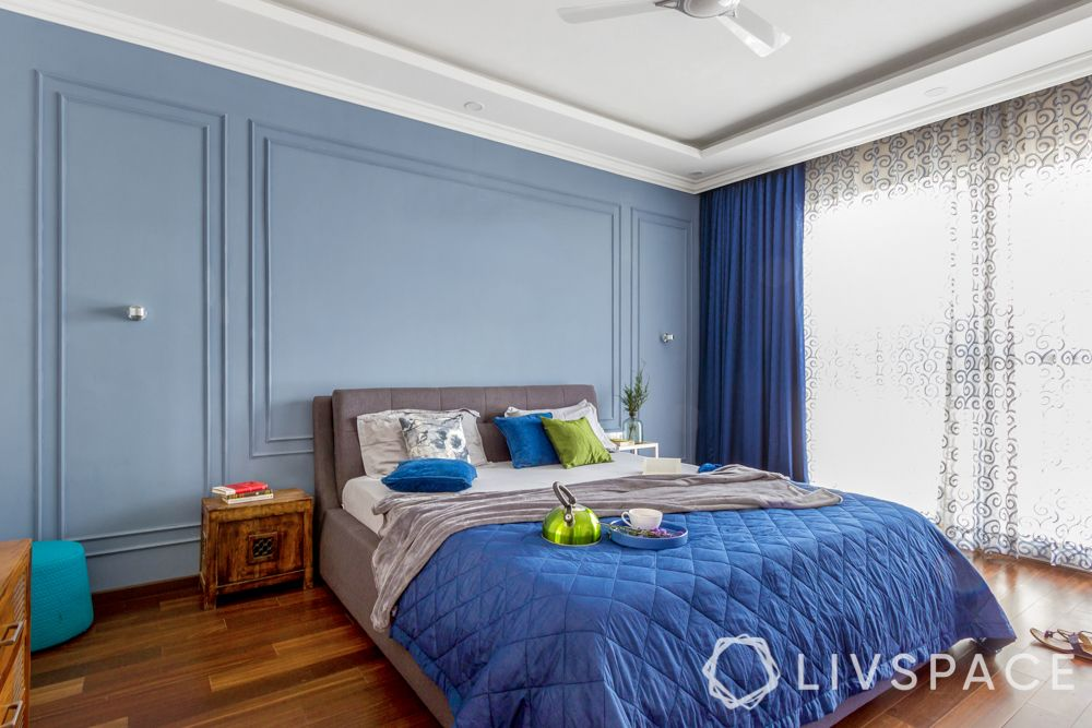 asian paints colour of the year-blue swall-blue bed cover