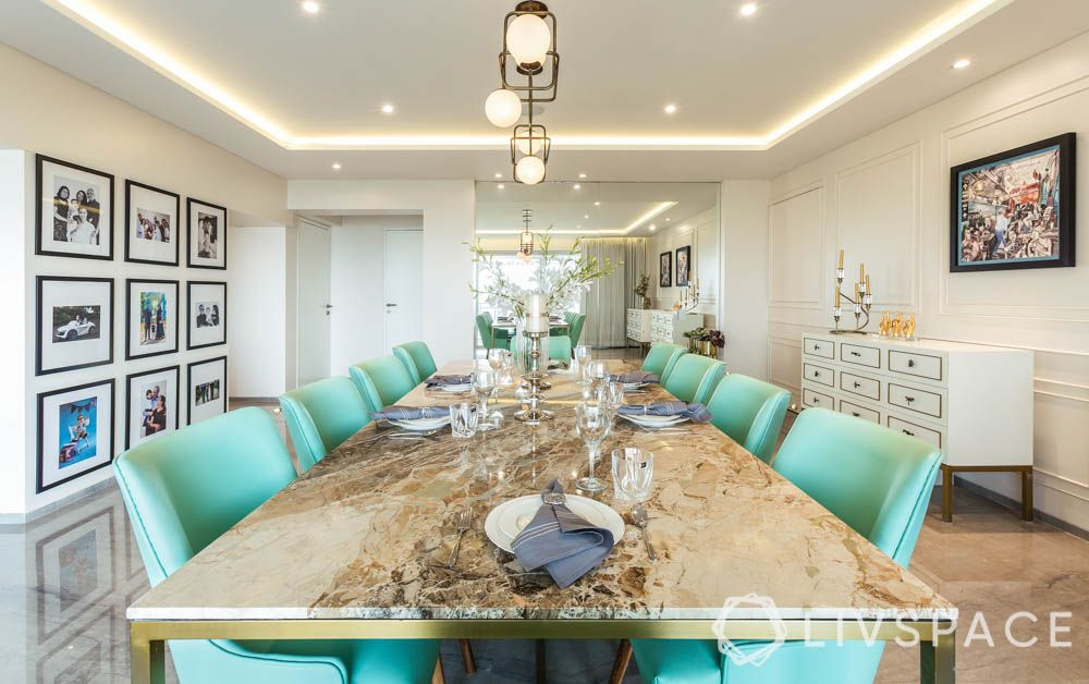 Dining Table Top-italian marble-pastel chairs