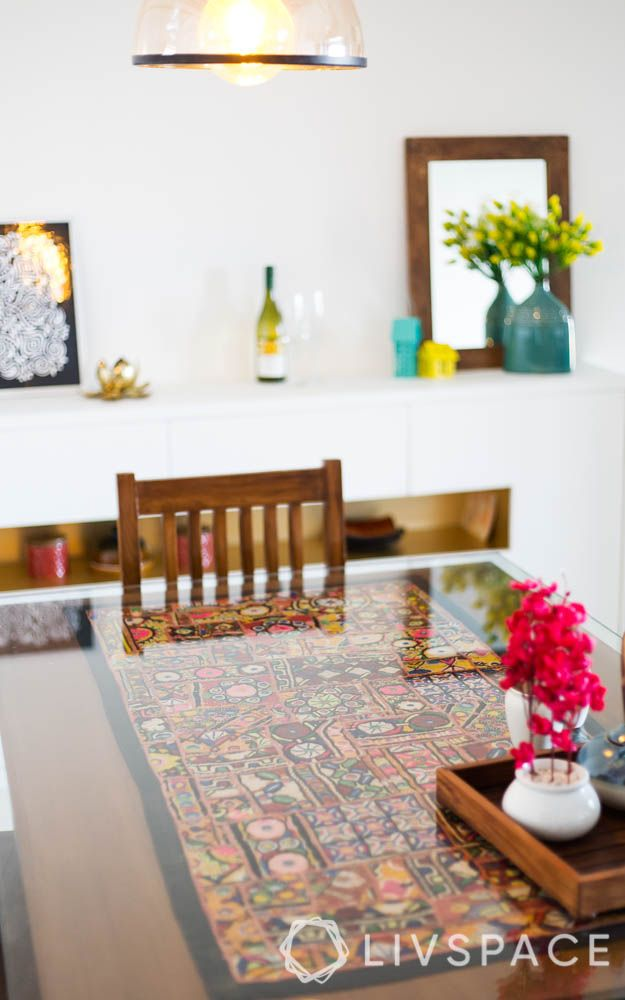Dining Table Top-glass-wooden chair